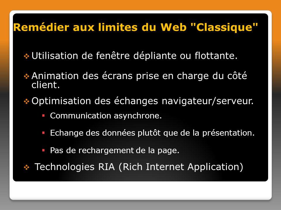 Remédier aux limites du Web Classique