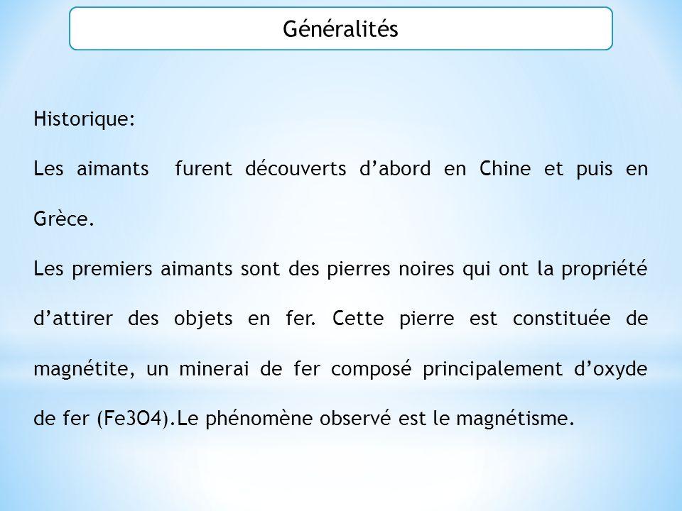 Généralités Historique: