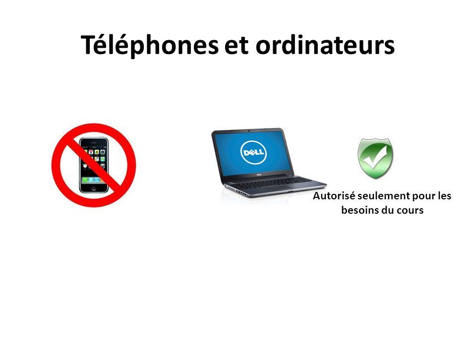 Téléphones et ordinateurs