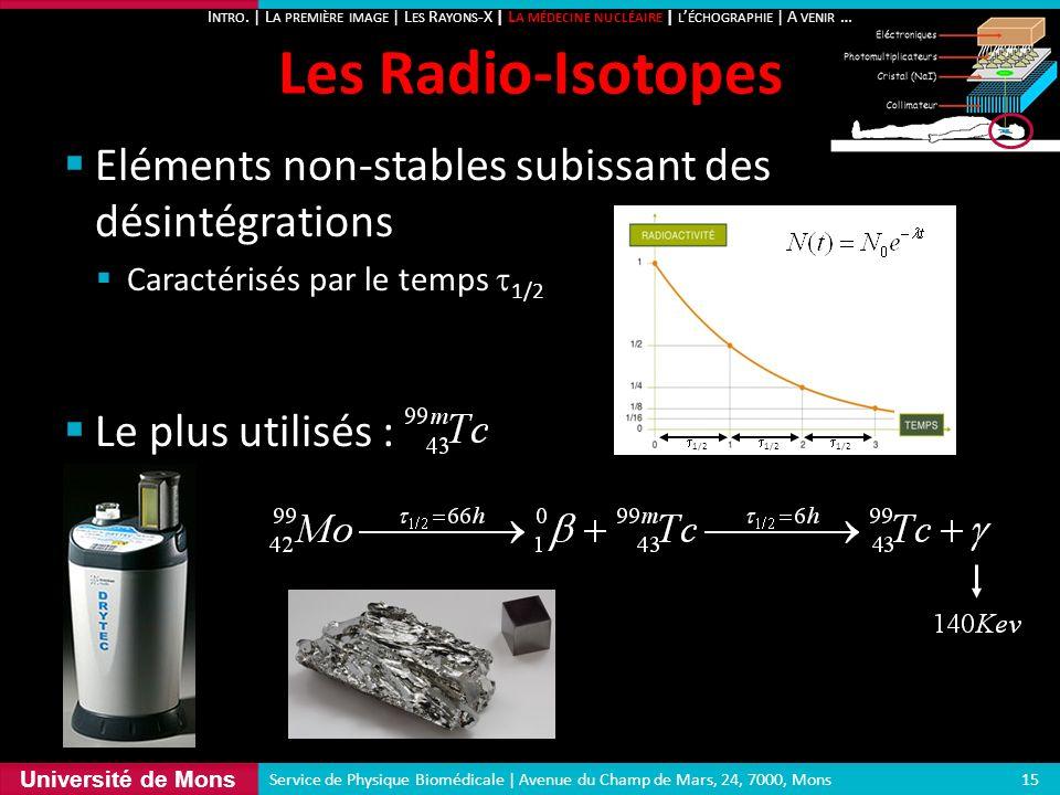 Les Radio-Isotopes Eléments non-stables subissant des désintégrations