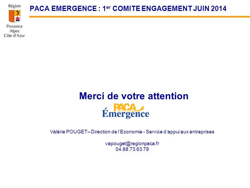 PACA EMERGENCE : 1er COMITE ENGAGEMENT JUIN 2014