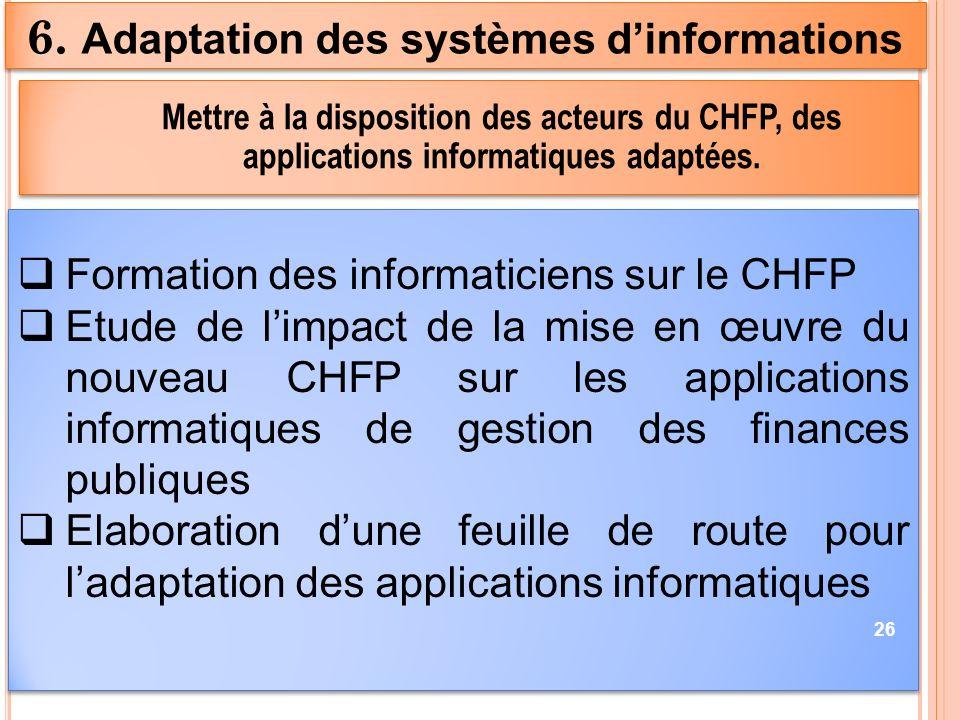 6. Adaptation des systèmes d'informations