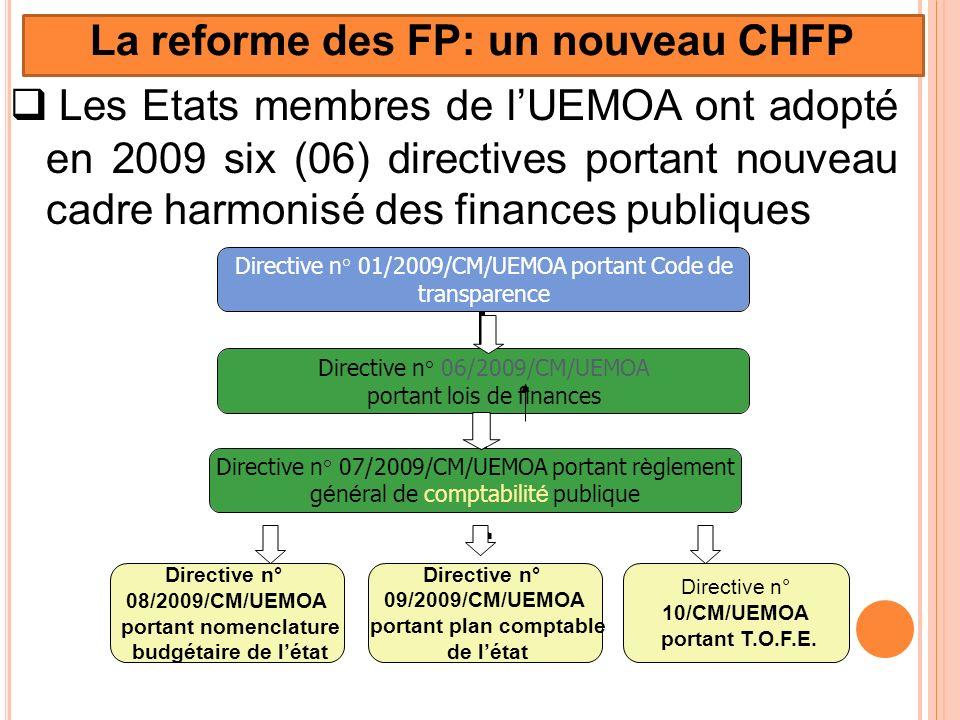 La reforme des FP: un nouveau CHFP portant plan comptable