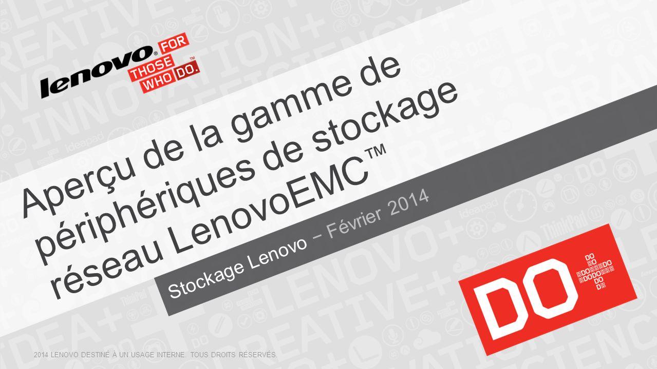 Aperçu de la gamme de périphériques de stockage réseau LenovoEMC™