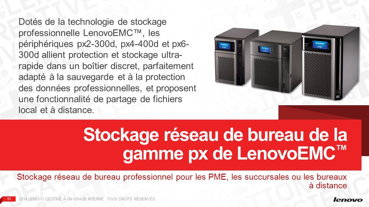 Stockage réseau de bureau de la gamme px de LenovoEMC™