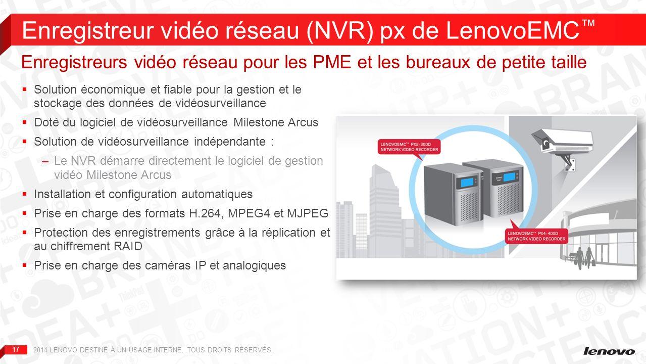 Enregistreur vidéo réseau (NVR) px de LenovoEMC™