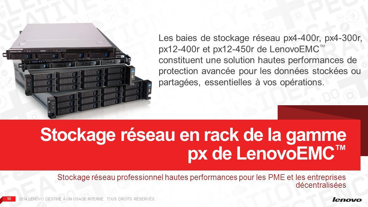 Stockage réseau en rack de la gamme px de LenovoEMC™
