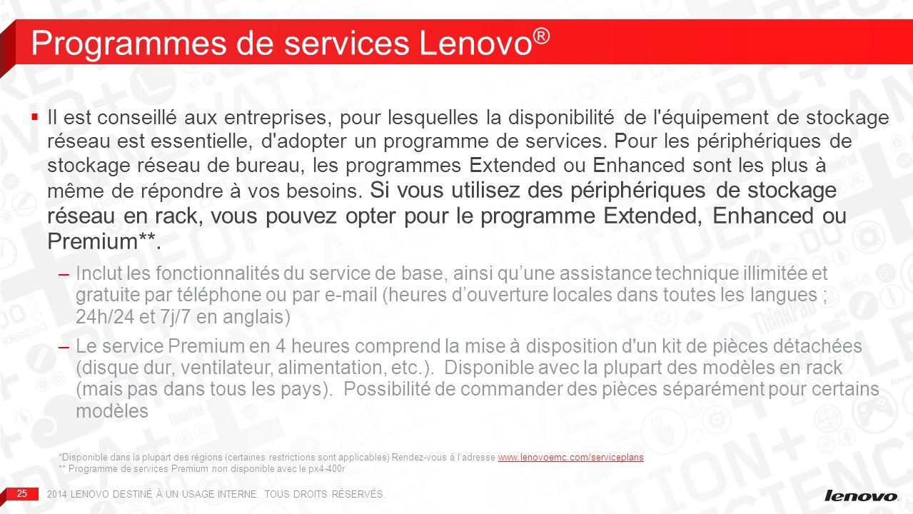 Programmes de services Lenovo®