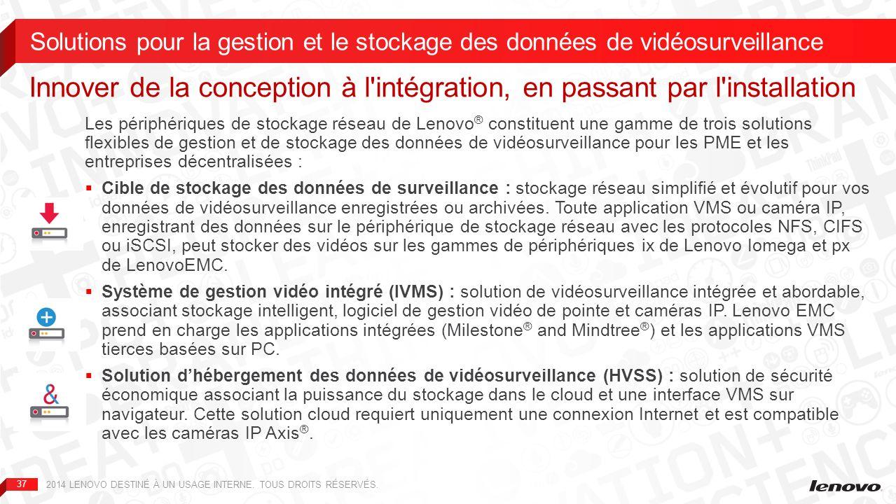 Solutions pour la gestion et le stockage des données de vidéosurveillance