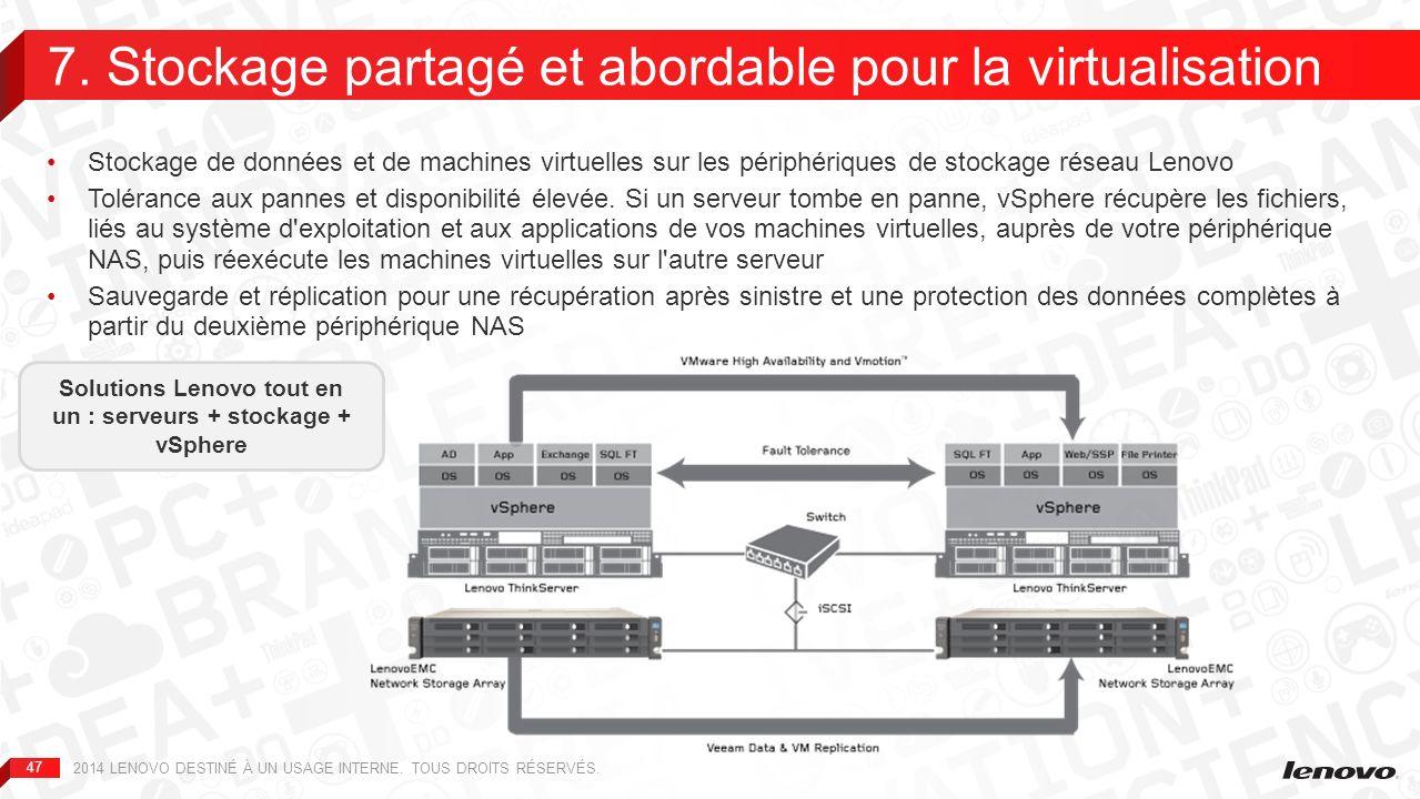 7. Stockage partagé et abordable pour la virtualisation