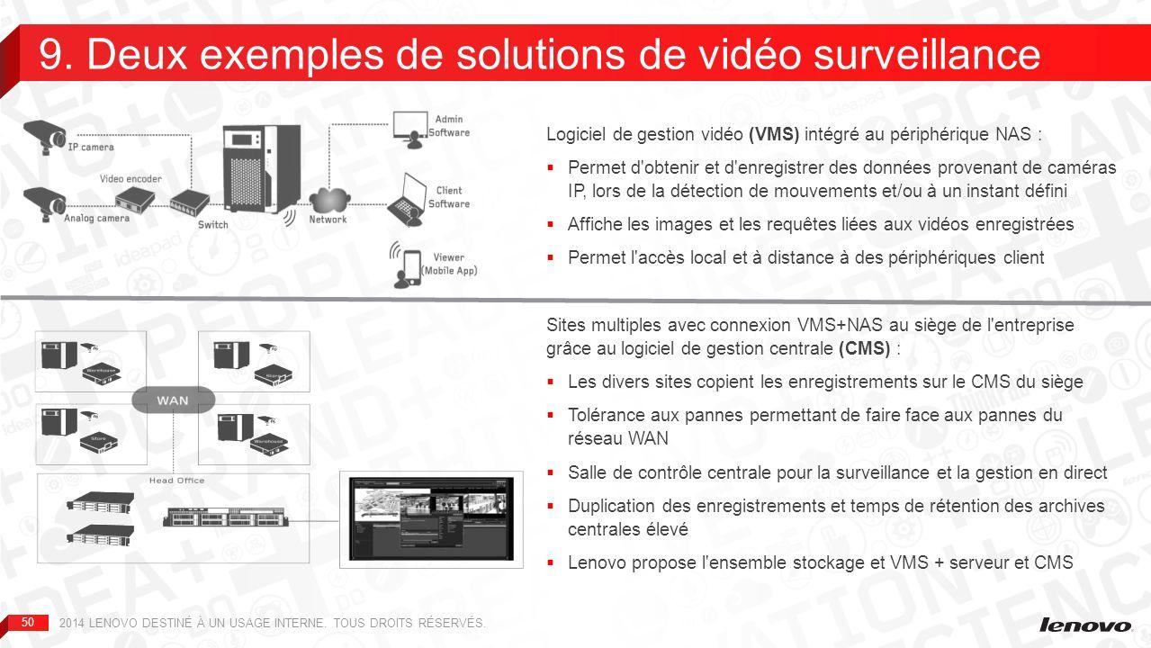 9. Deux exemples de solutions de vidéo surveillance