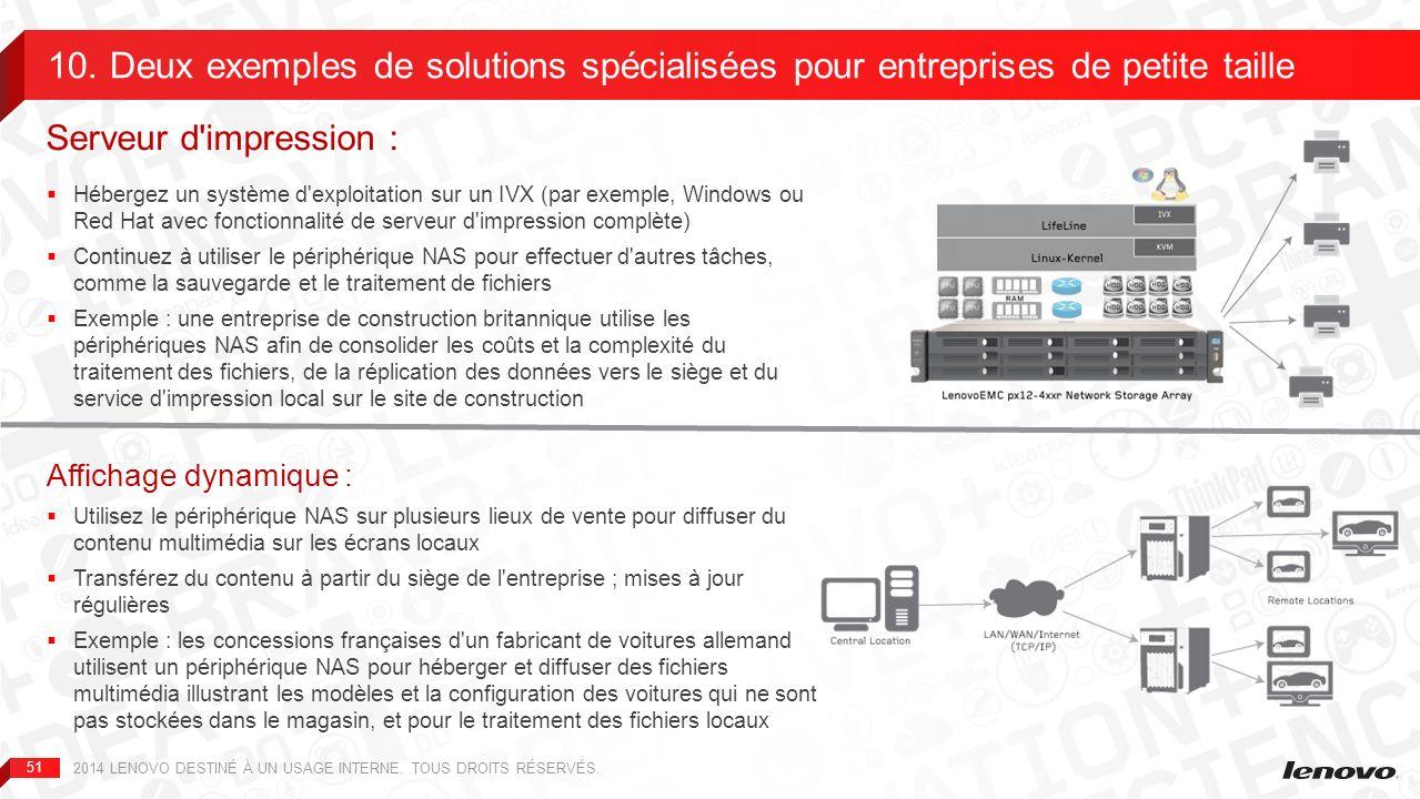 10. Deux exemples de solutions spécialisées pour entreprises de petite taille