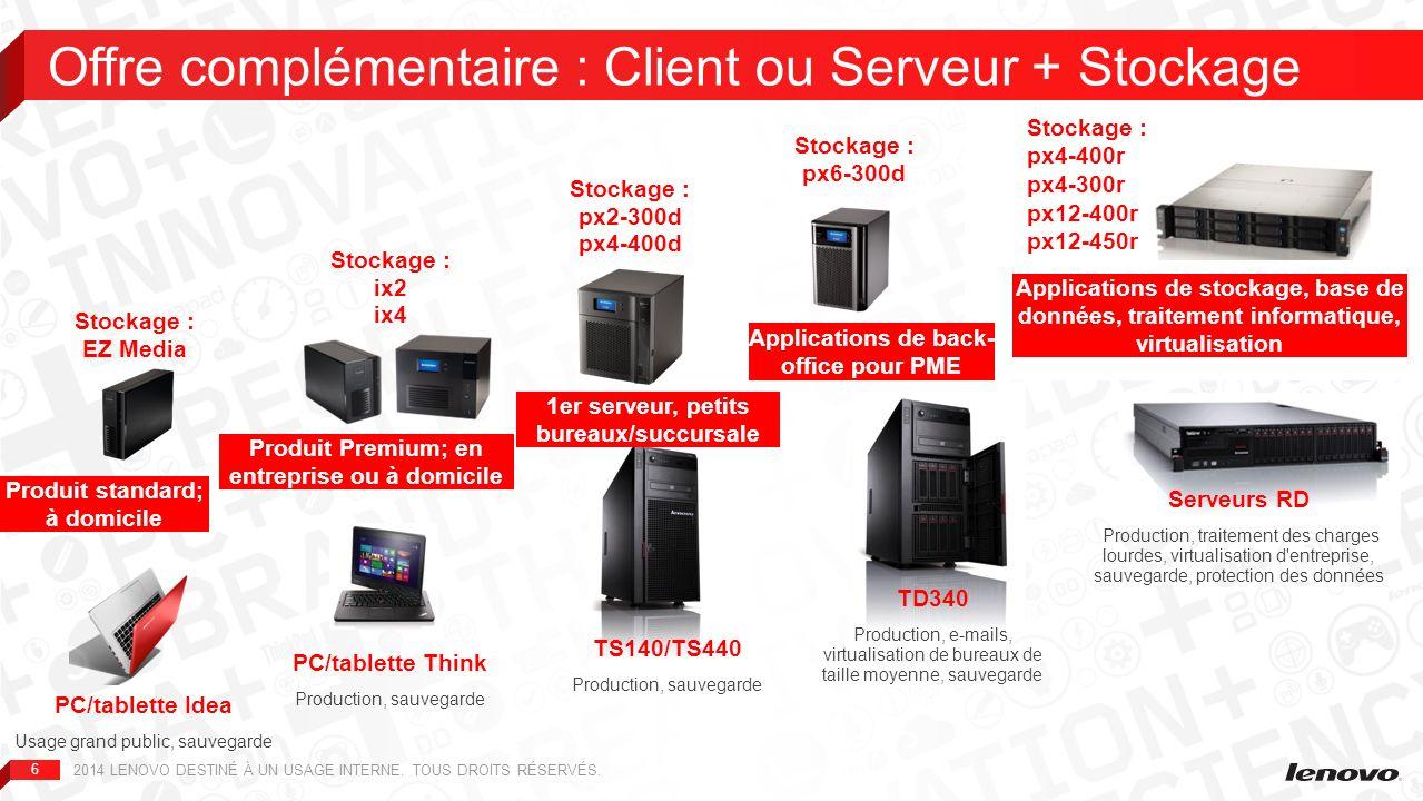 Offre complémentaire : Client ou Serveur + Stockage