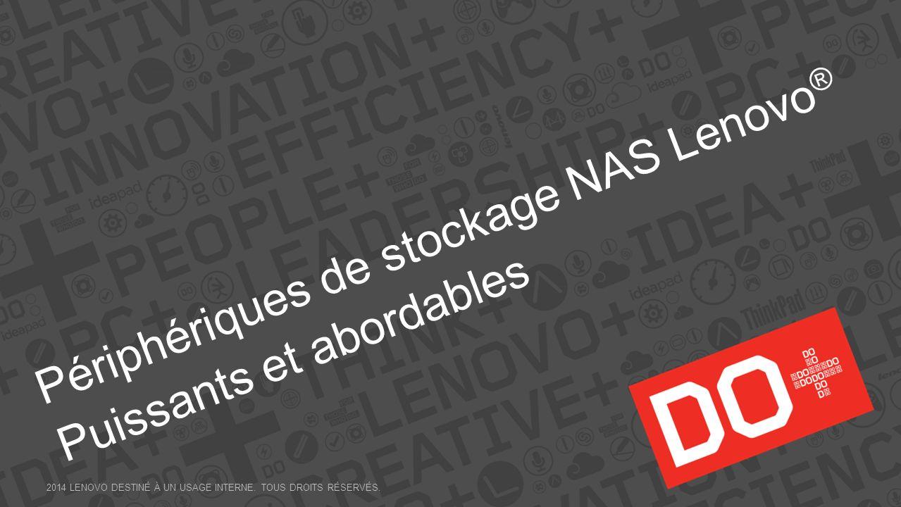 Périphériques de stockage NAS Lenovo® Puissants et abordables