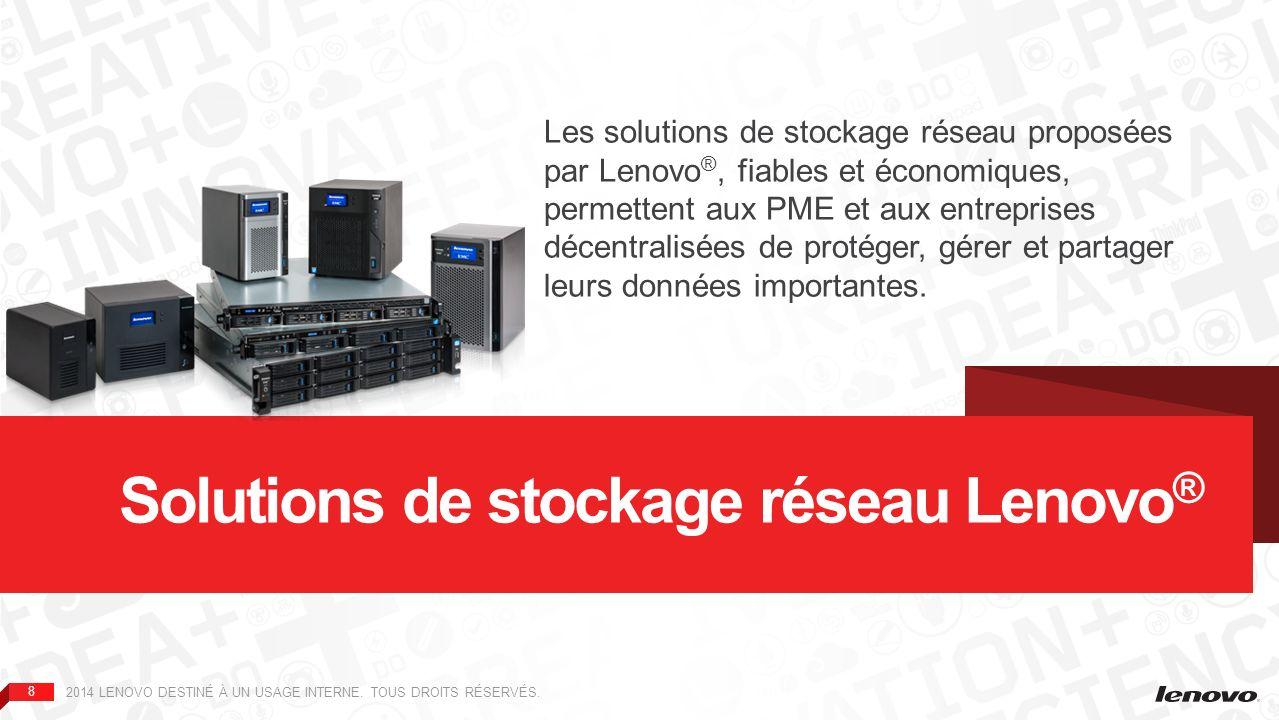 Solutions de stockage réseau Lenovo®