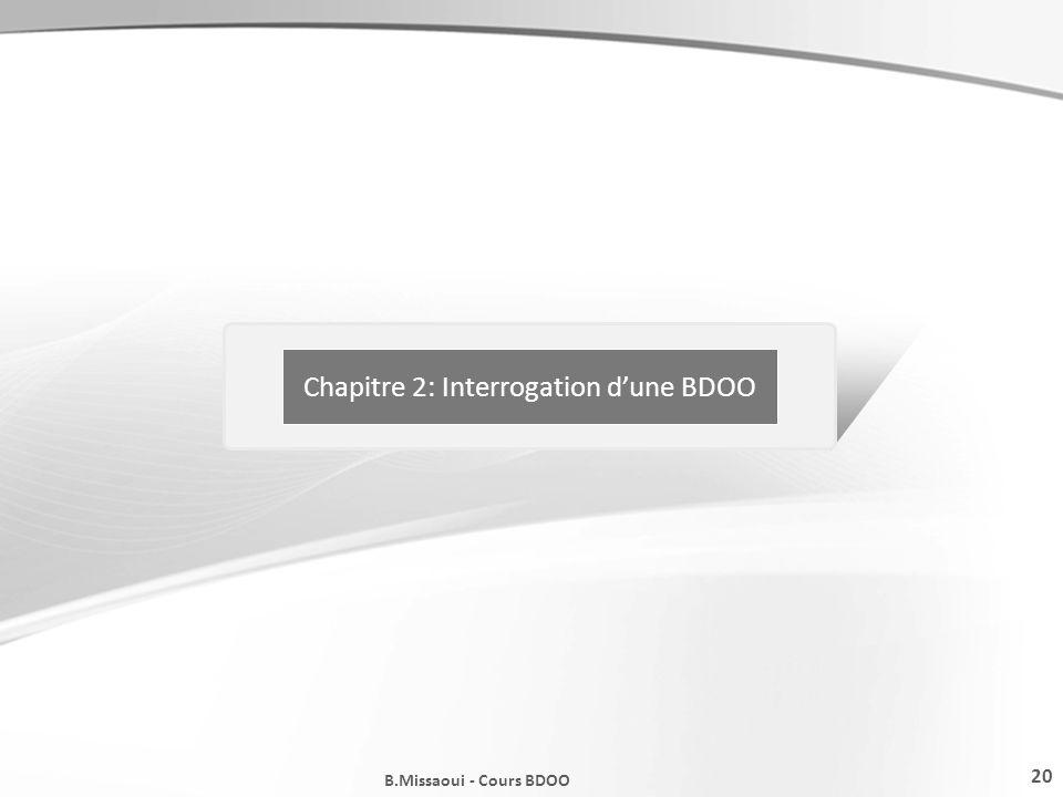 Chapitre 2: Interrogation d'une BDOO
