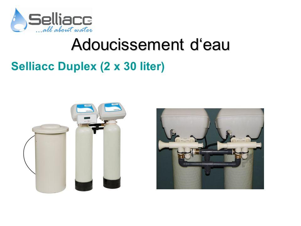 Adoucissement d'eau Selliacc Duplex (2 x 30 liter)