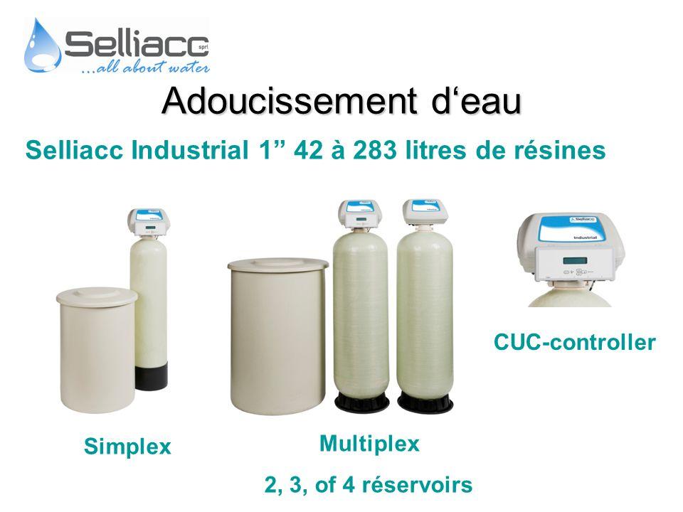 Adoucissement d'eau Selliacc Industrial 1 42 à 283 litres de résines