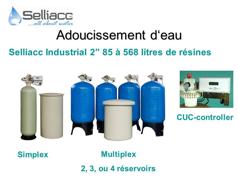 Adoucissement d'eau Selliacc Industrial 2 85 à 568 litres de résines