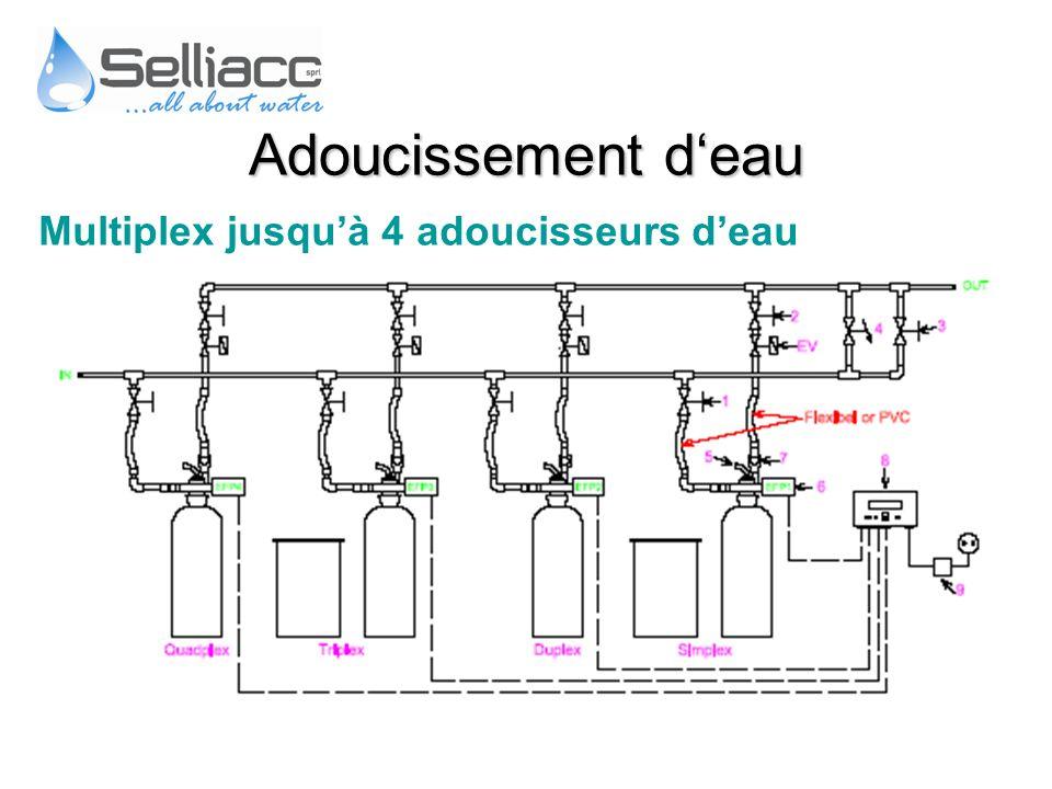 Adoucissement d'eau Multiplex jusqu'à 4 adoucisseurs d'eau
