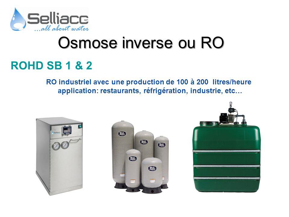 Osmose inverse ou RO ROHD SB 1 & 2