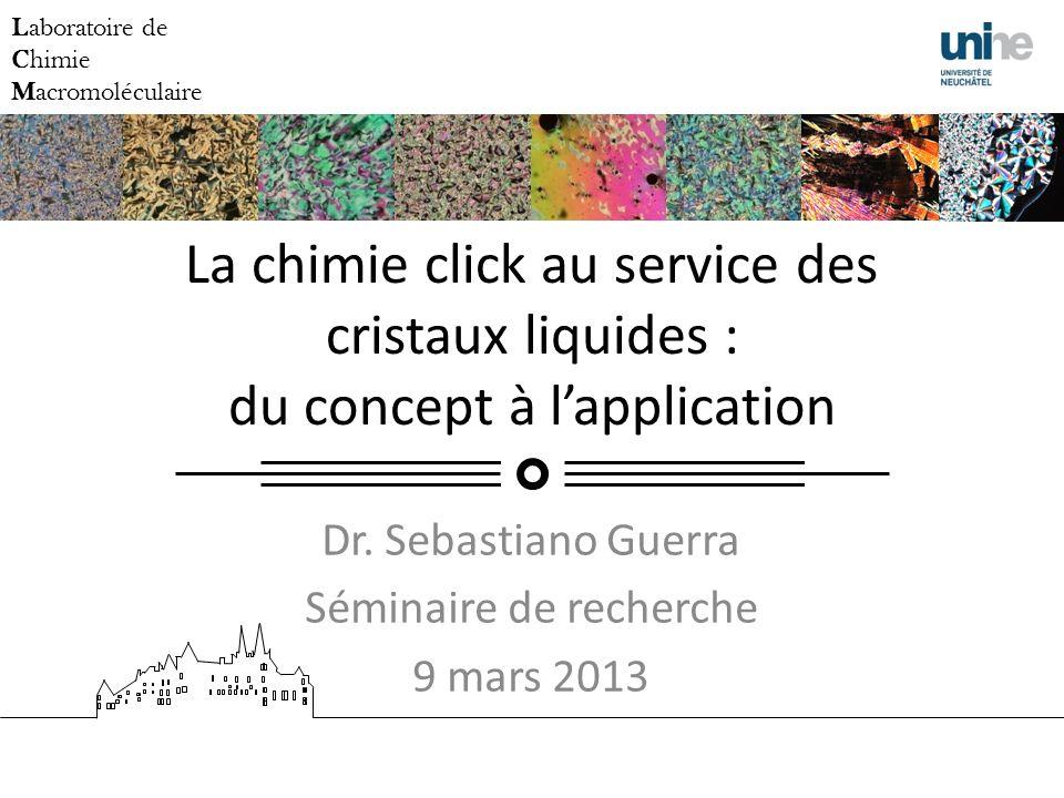 Dr. Sebastiano Guerra Séminaire de recherche 9 mars 2013
