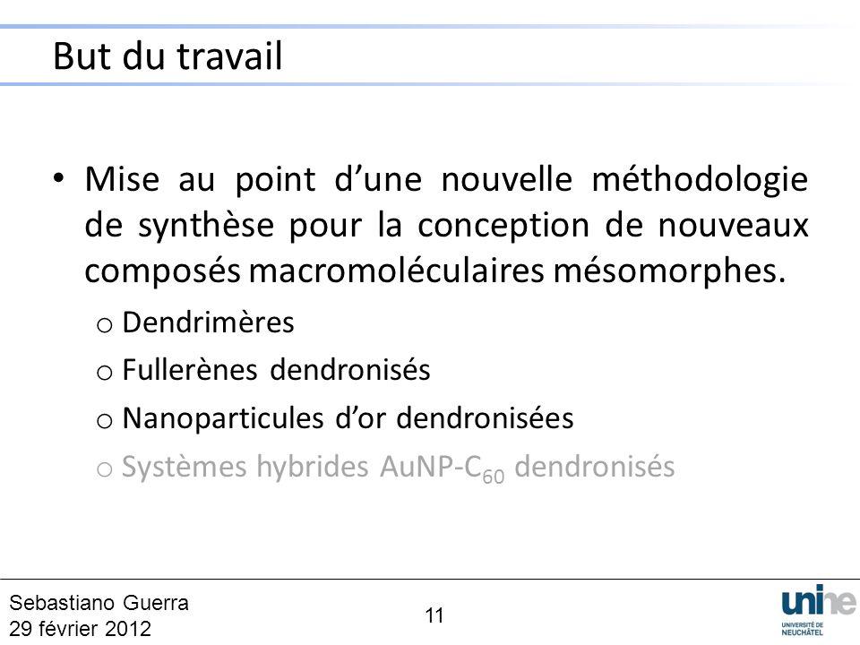 But du travail Mise au point d'une nouvelle méthodologie de synthèse pour la conception de nouveaux composés macromoléculaires mésomorphes.