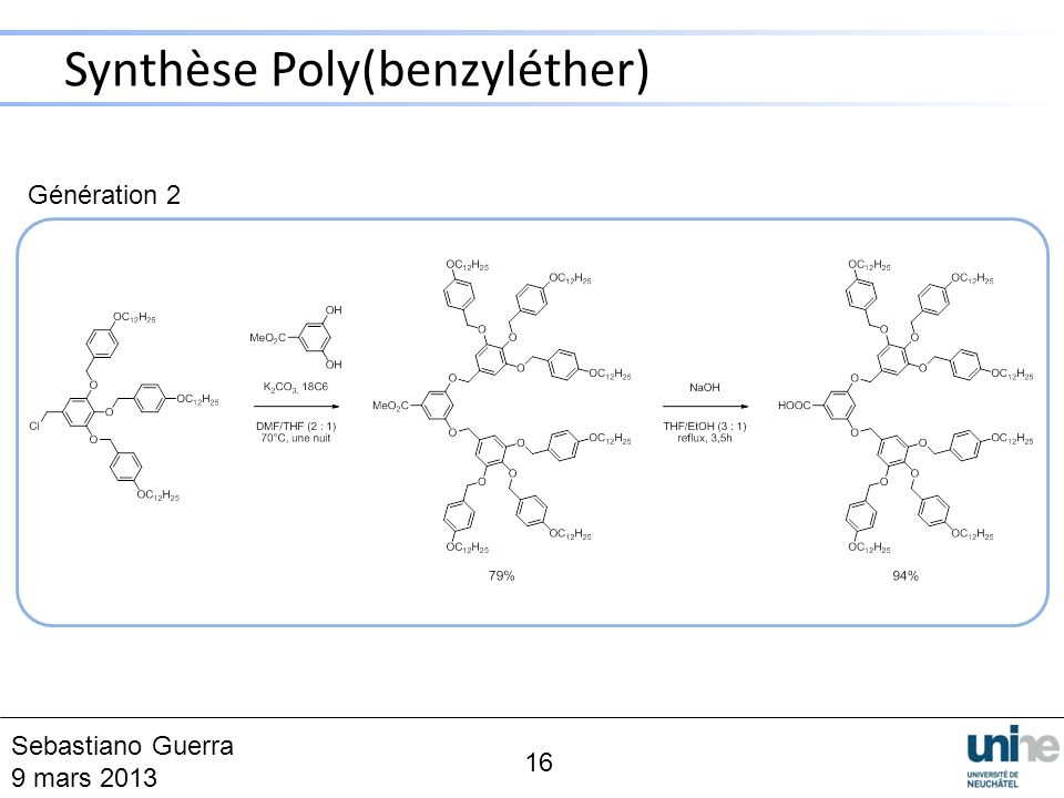 Synthèse Poly(benzyléther)