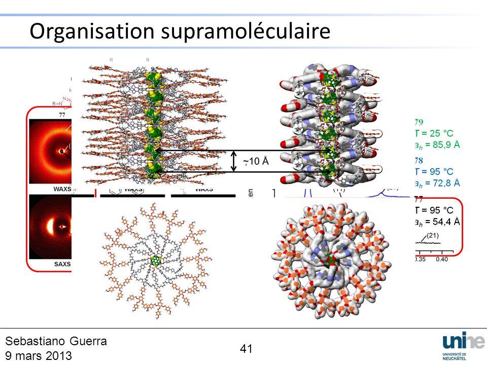 Organisation supramoléculaire