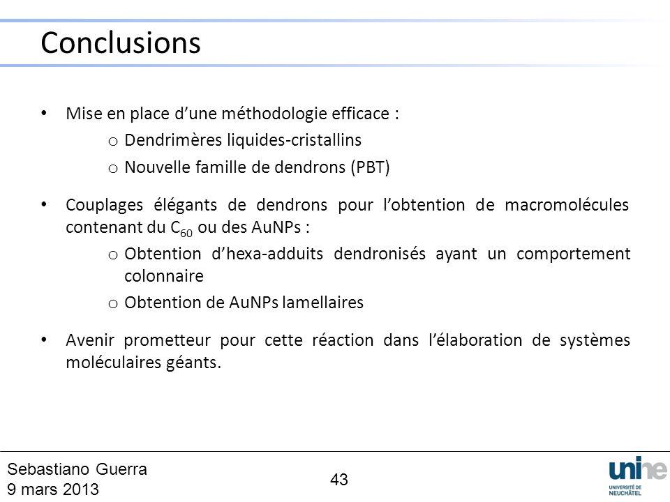 Conclusions Mise en place d'une méthodologie efficace :