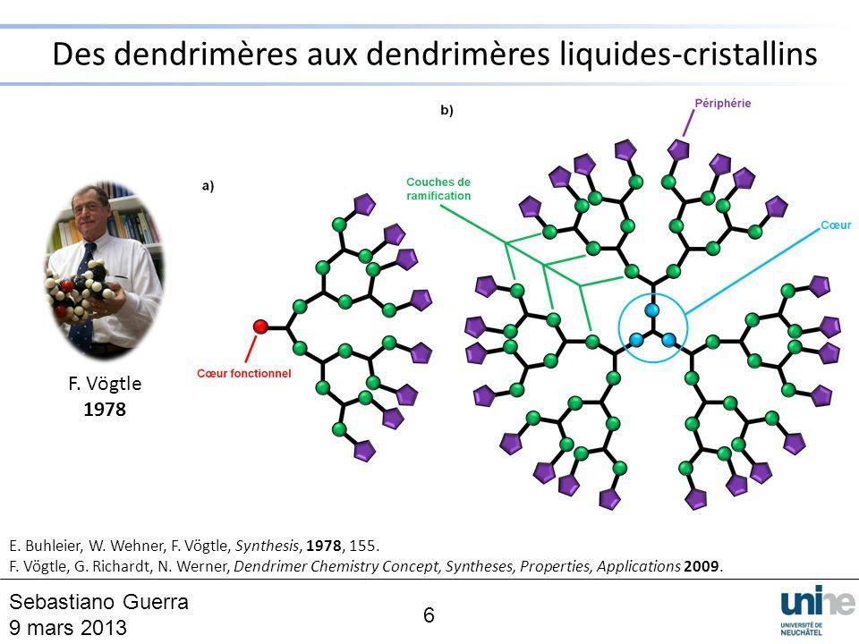 Des dendrimères aux dendrimères liquides-cristallins