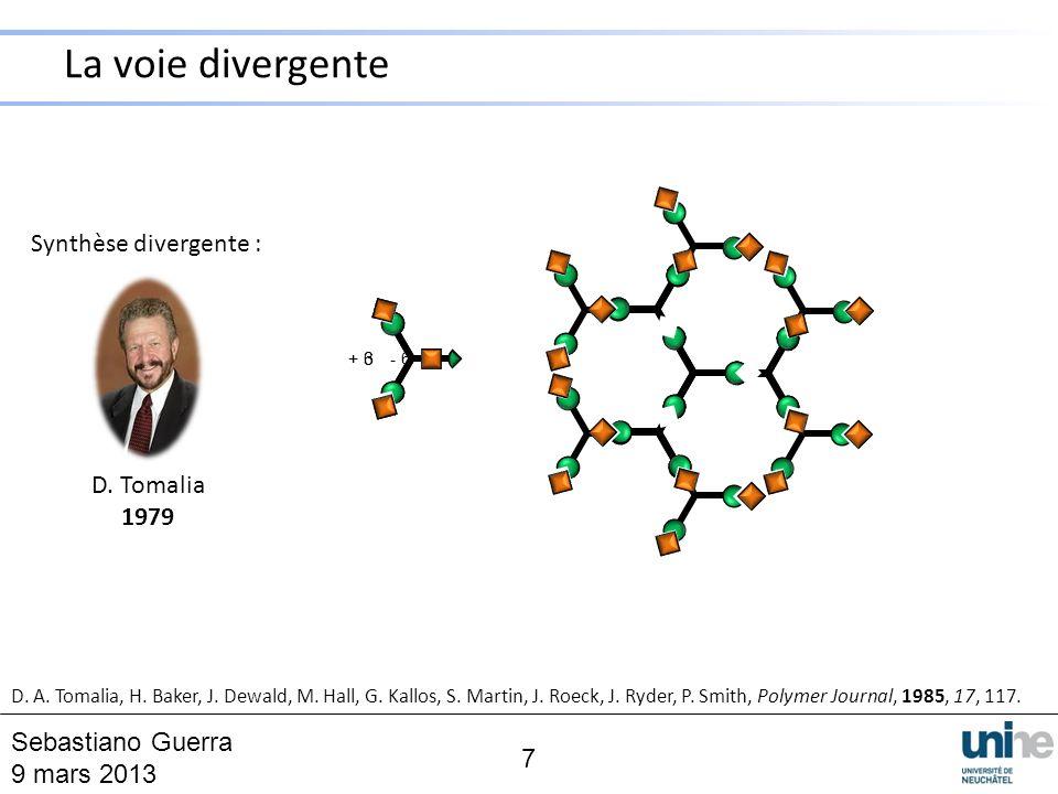 La voie divergente Synthèse divergente : D. Tomalia 1979
