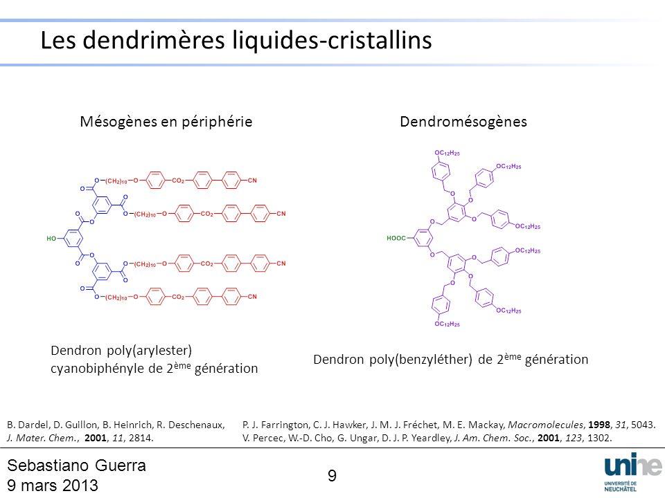 Les dendrimères liquides-cristallins