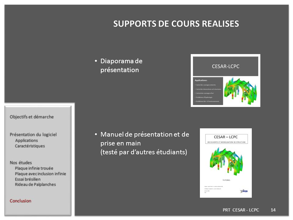 SUPPORTS DE COURS REALISES