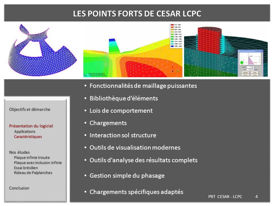 LES POINTS FORTS DE CESAR LCPC