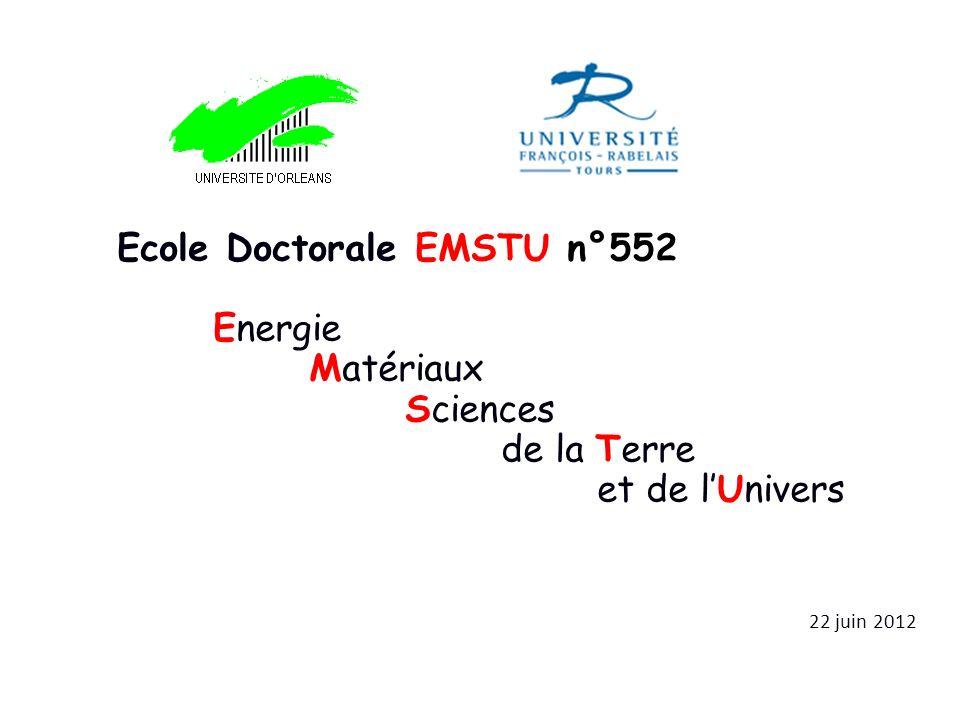 Ecole Doctorale EMSTU n°552 Energie Matériaux Sciences de la Terre