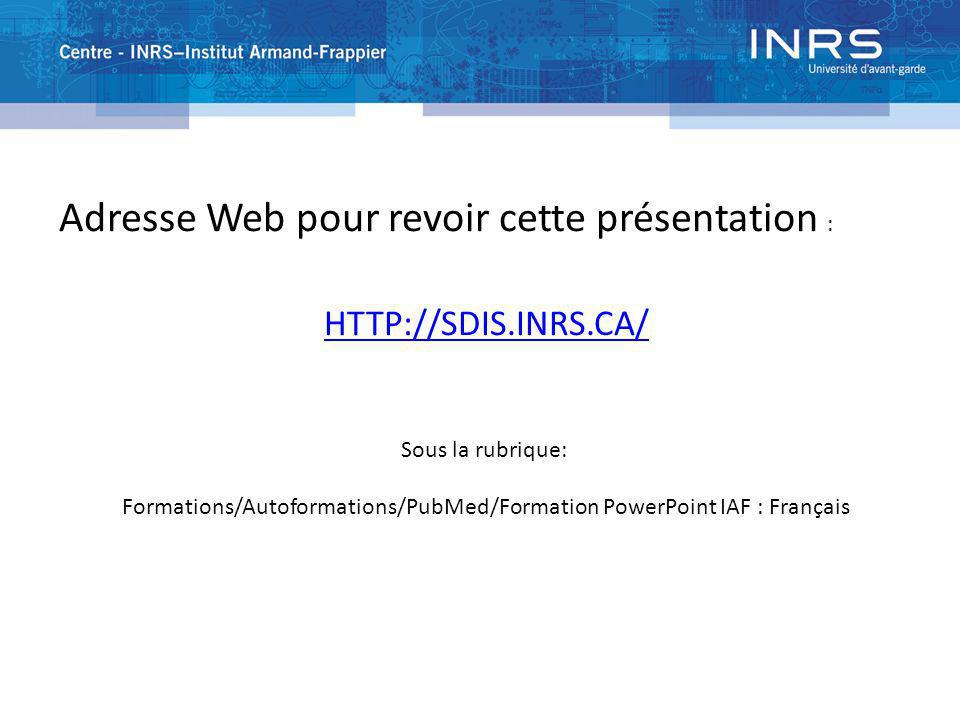 Formations/Autoformations/PubMed/Formation PowerPoint IAF : Français