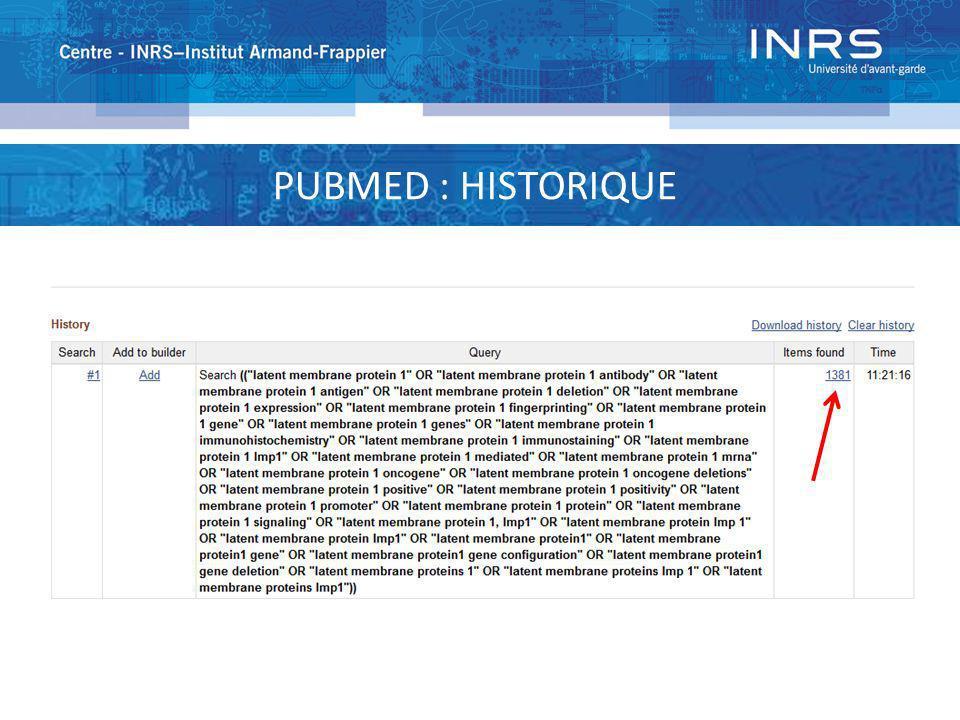 PUBMED : HISTORIQUE
