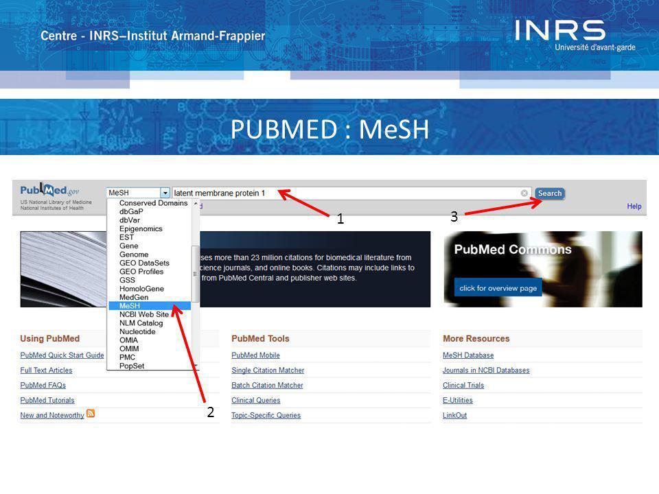 PUBMED : MeSH 1 3 2