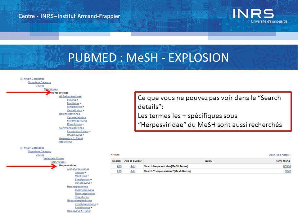 PUBMED : MeSH - EXPLOSION
