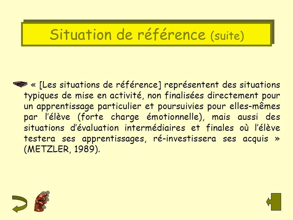 Situation de référence (suite)