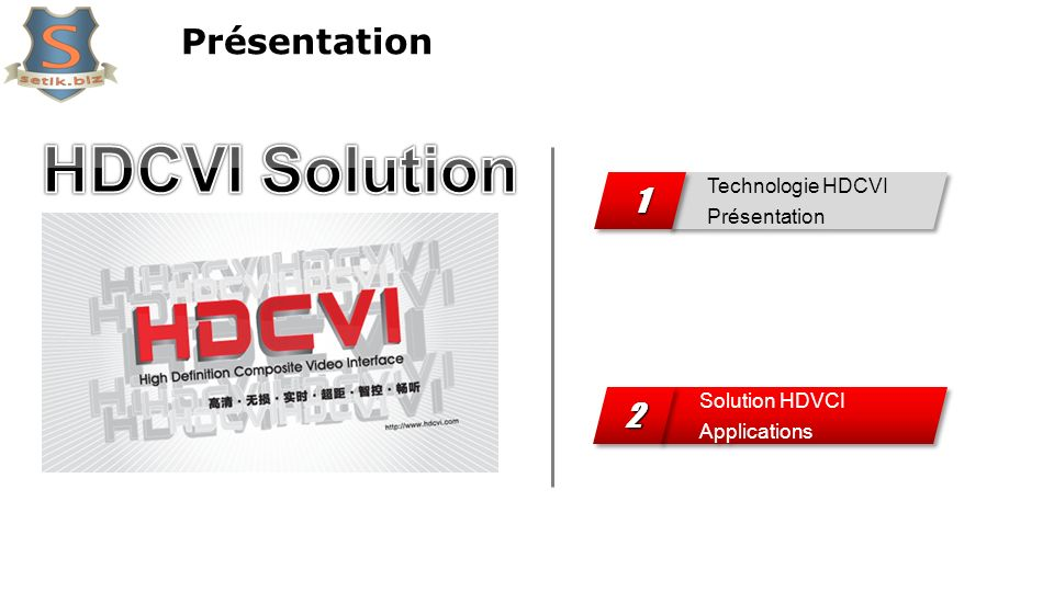 HDCVI Solution Présentation 1 2 Technologie HDCVI Présentation