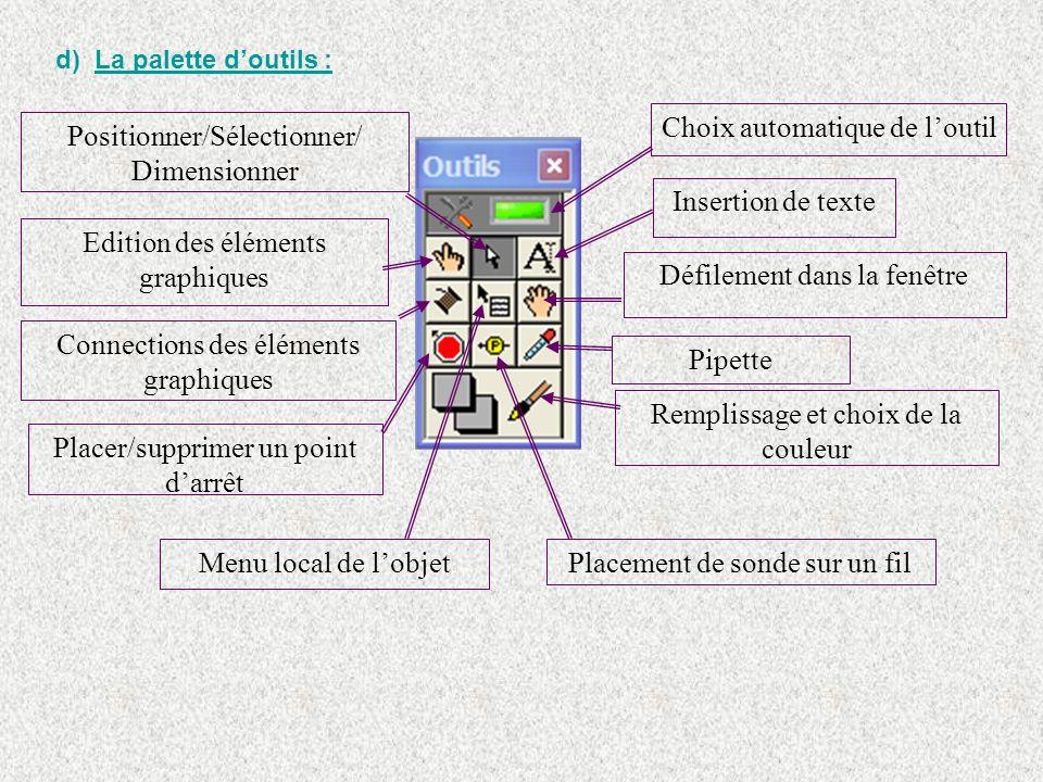 Choix automatique de l'outil Positionner/Sélectionner/ Dimensionner