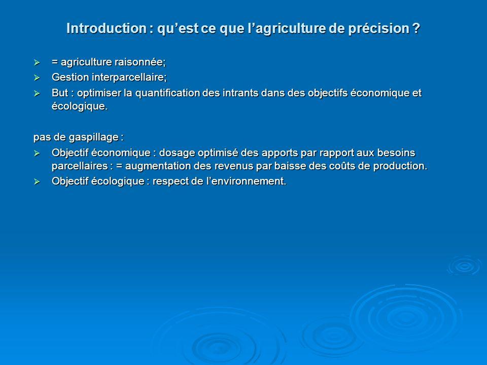 Introduction : qu'est ce que l'agriculture de précision