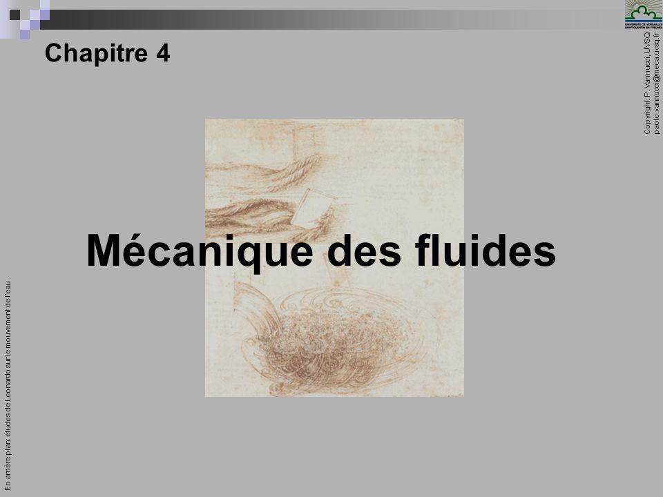Mécanique des fluides Chapitre 4