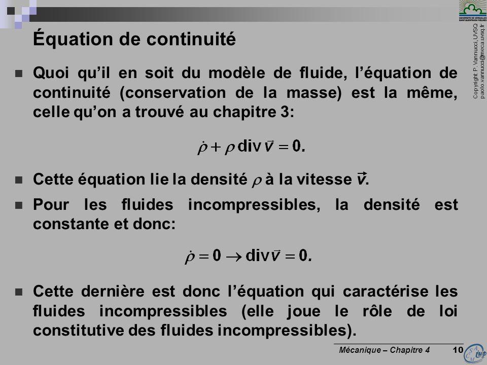 Équation de continuité