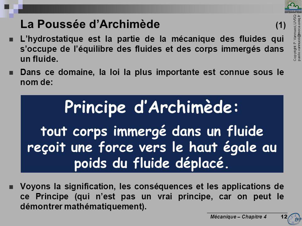 La Poussée d'Archimède (1)