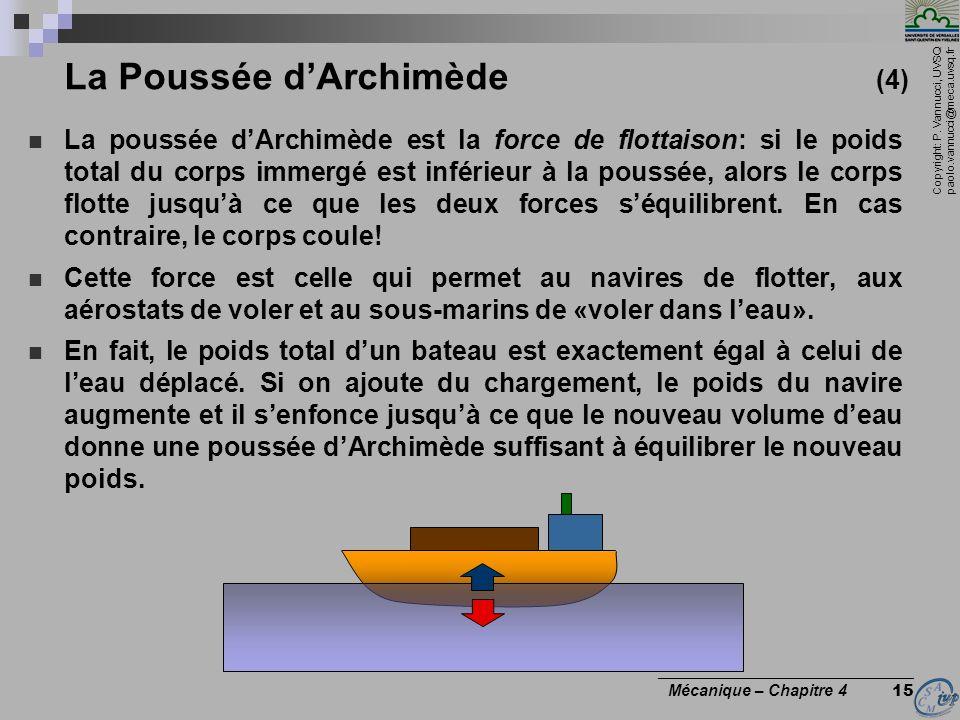 La Poussée d'Archimède (4)