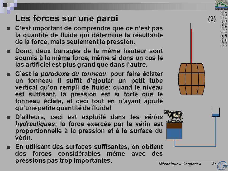 Les forces sur une paroi (3)