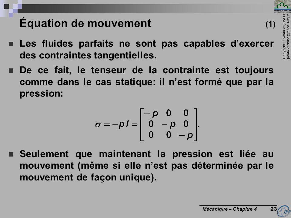 Équation de mouvement (1)